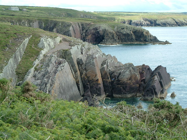 Cliffs at Porth Clais