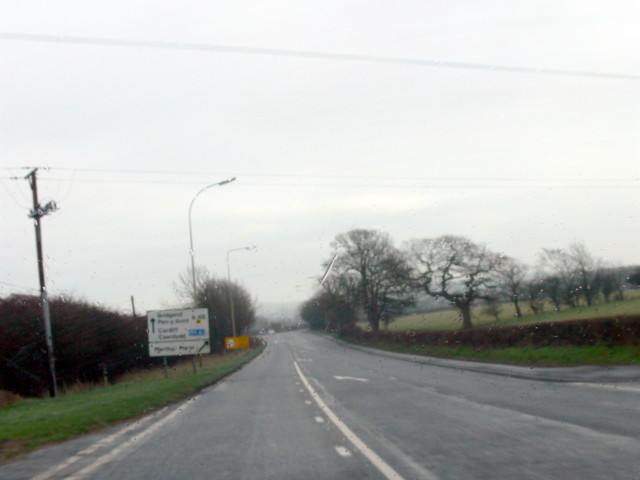 Merthyr Mawr Road junction with A48