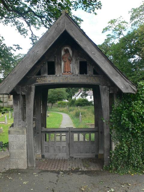 Lych Gate, St Cynbryd's Church, Llanddulas.