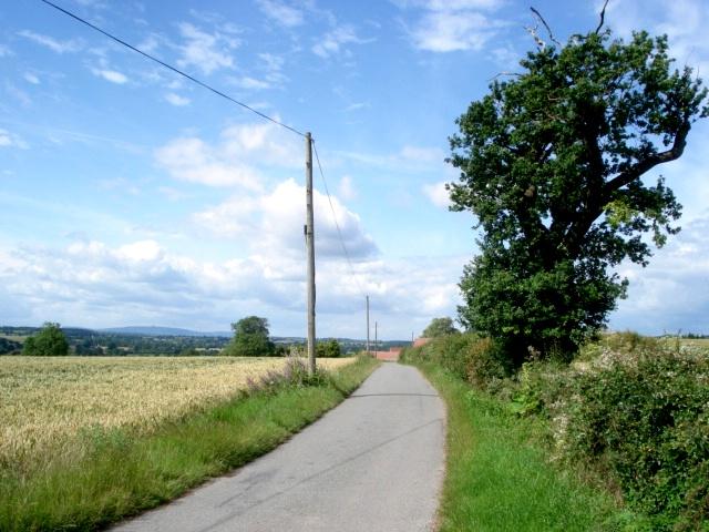 Lane to Hillend Court