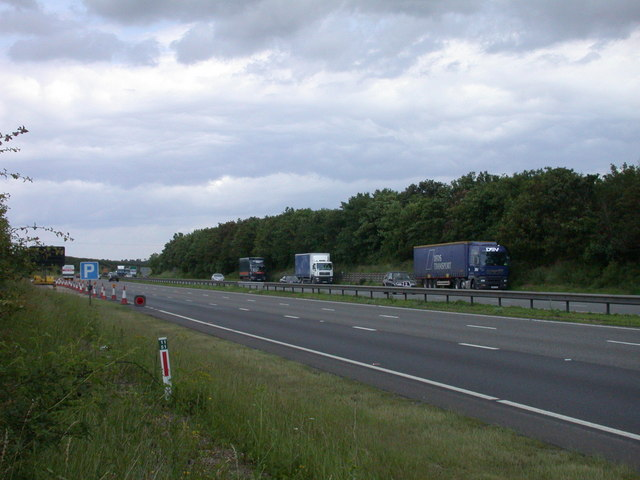 Laybys on A14 Newmarket Bypass