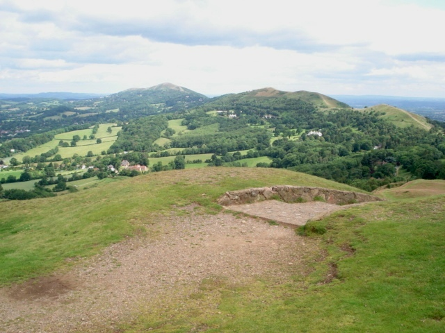 View north from the top of the Herefordshire Beacon