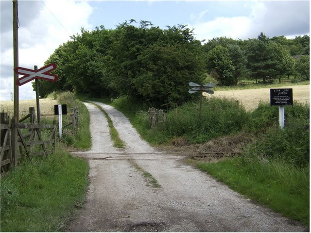 Farm Crossing on the Foxfield Steam Railway
