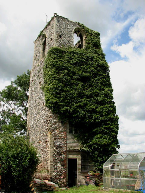 Ruined tower of St. Peter's church, Bastwick
