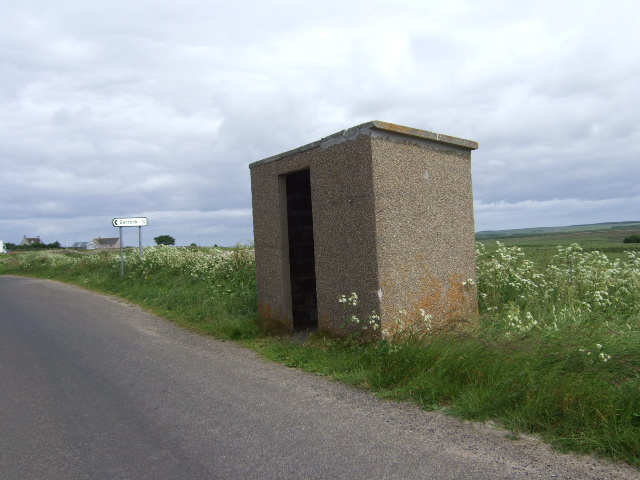 Bus shelter and road junction