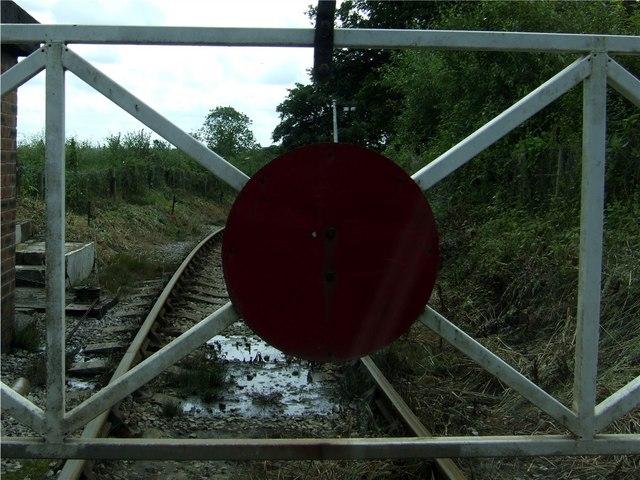 Crossing Gate on the Foxfield Steam Railway