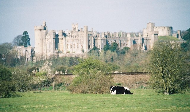 Arundel: the castle from the southeast