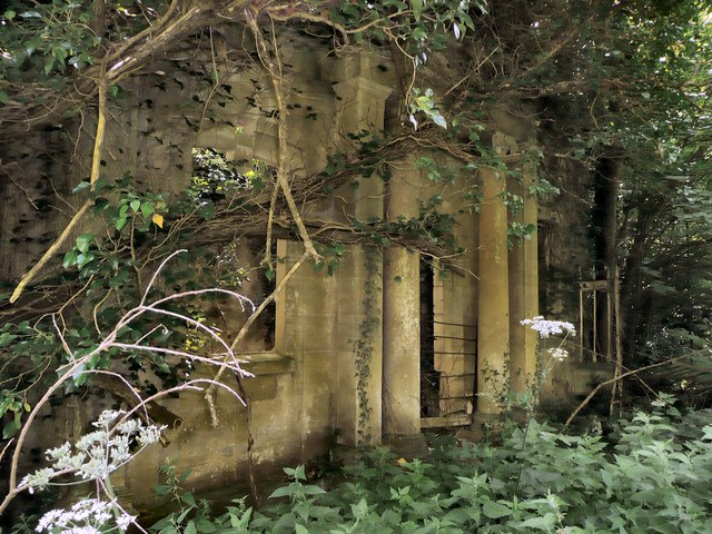Derelict lodge house at Ammerdown Park