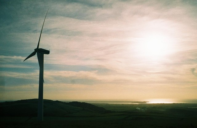 Furness: view of Walney from wind farm