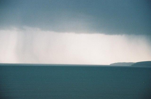 Storm off Old Harry Rocks