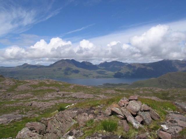A summit cairn Beinn Shieldaig