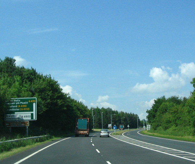A470 Junction with B4602