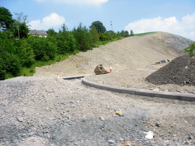 Work in progress on the cutting at the Glyn Bends, Ty-nant