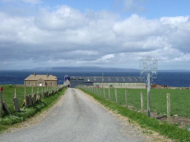 Track to Long Goe farm
