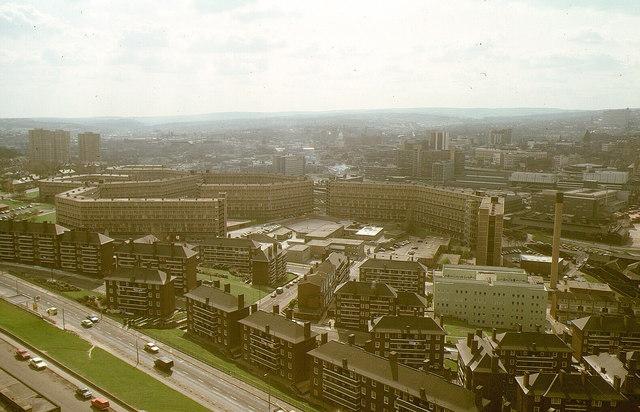 Park Hill Flats from Hyde Park Flats, 1980