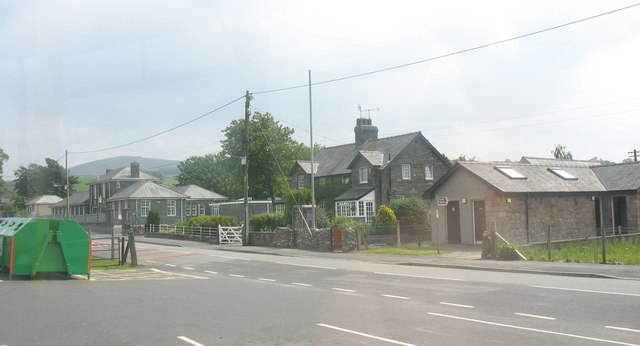 "The ""Bus Station"" and Primary School at Pentrefoelas"