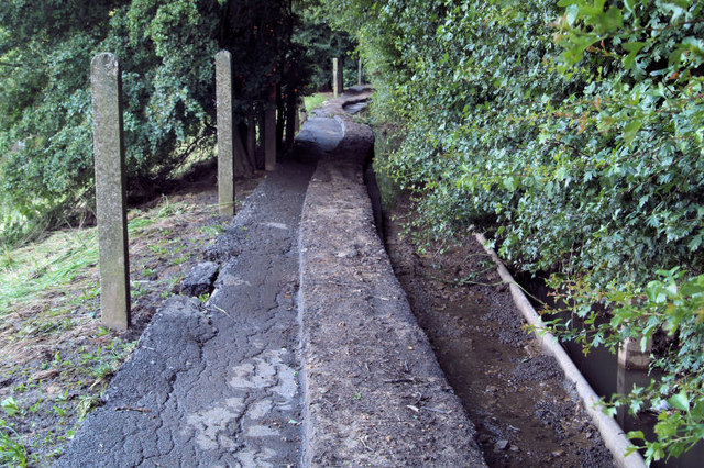 Flood damage to footpath