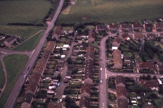 1960s housing estate, Currie, suburban Edinburgh