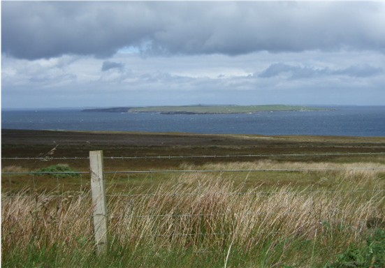 View towards Stroma island