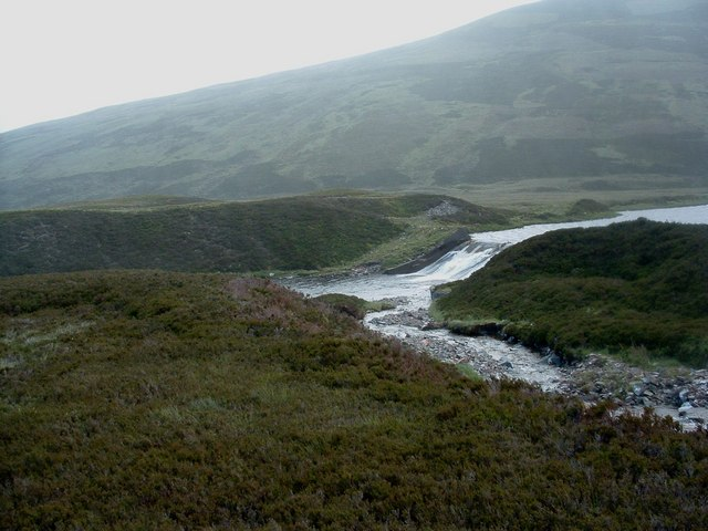 Spillway from the dam above Bruar Lodge