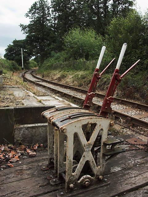 Foxfield Railway south of Caverswall Road crossing