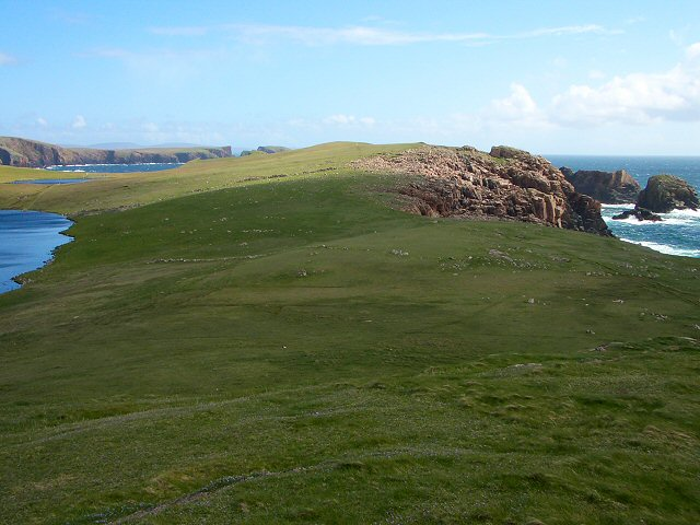 Coastal view from Culswick broch