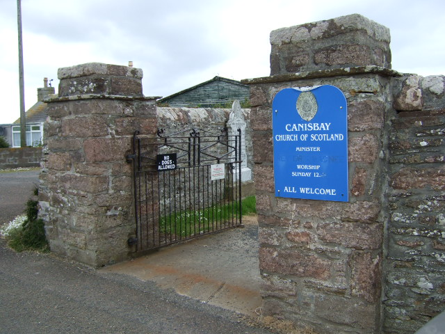 Entrance to Canisbay Church of Scotland