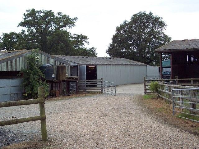 Farm buildings at Great Steed Farm