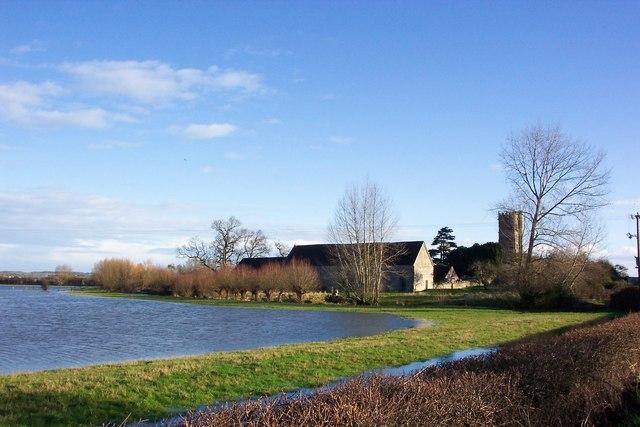 Flooded moor near Muchelney