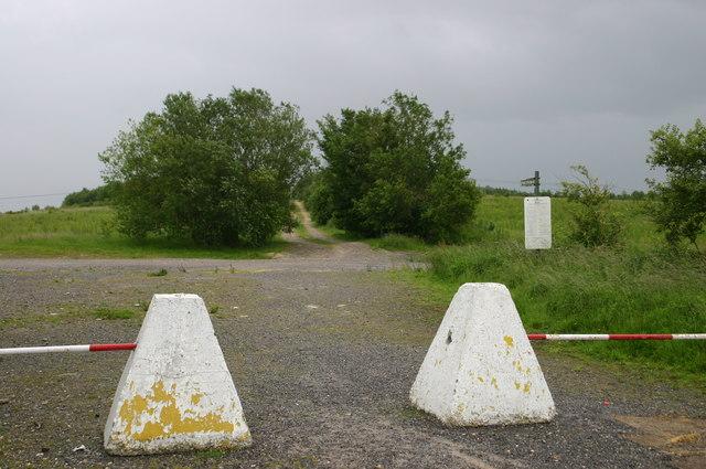 Public footpath off A3026 near Tidworth