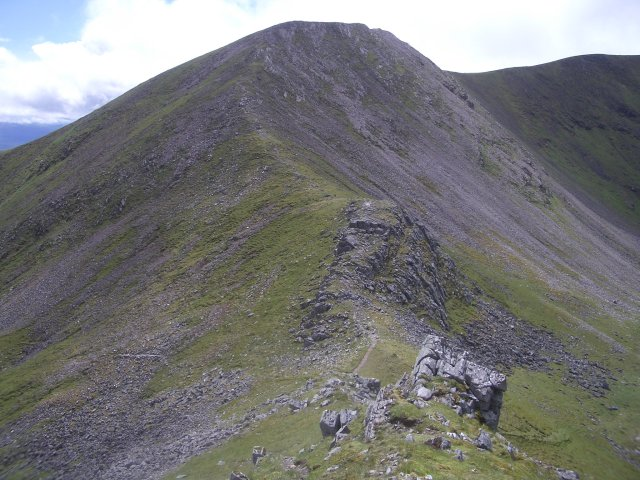 Ridge between Aonach Beag and Beinn Eibhinn