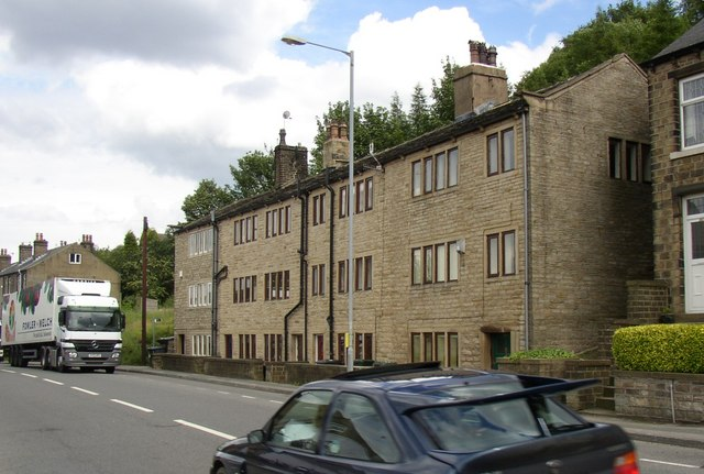 Three-storey houses, Manchester Road, Linthwaite