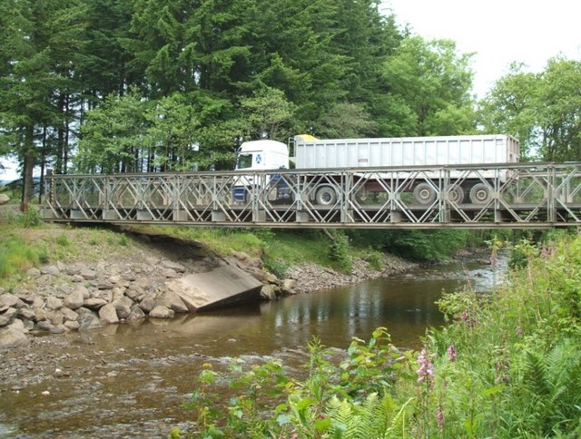 Bailey Bridge over Keltie Water