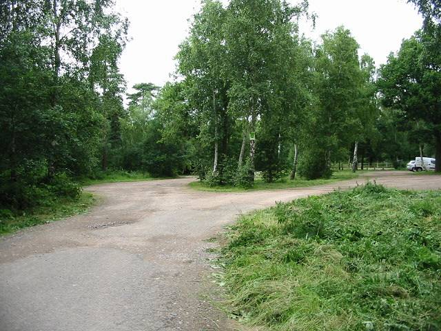 Car park in Clowes Wood