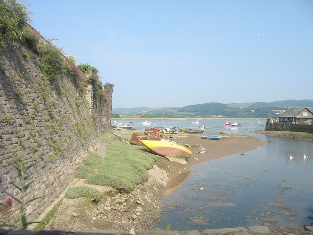 The Walls of Conwy and the Gyffin estuary