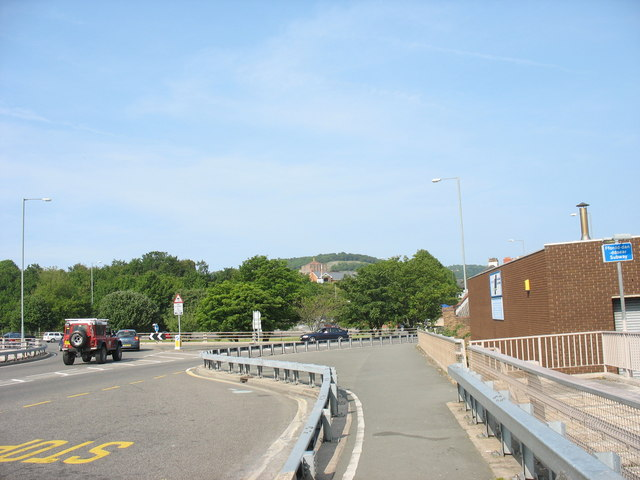Traffic Island at the end of the Conwy overpass at Llandudno Junction