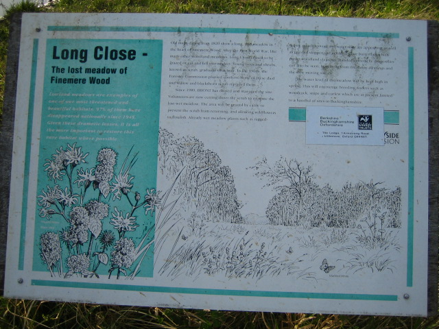 Information board , Finemere Wood