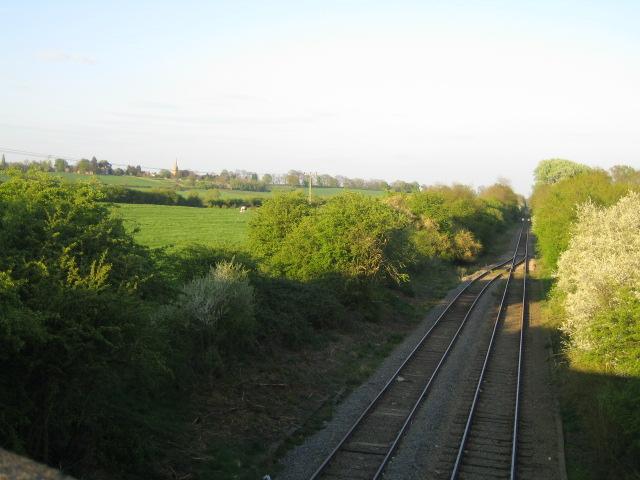 Railway line near Steeple Claydon