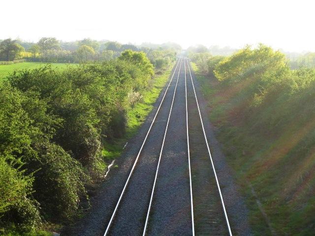 Railway line near Steeple Claydon 2