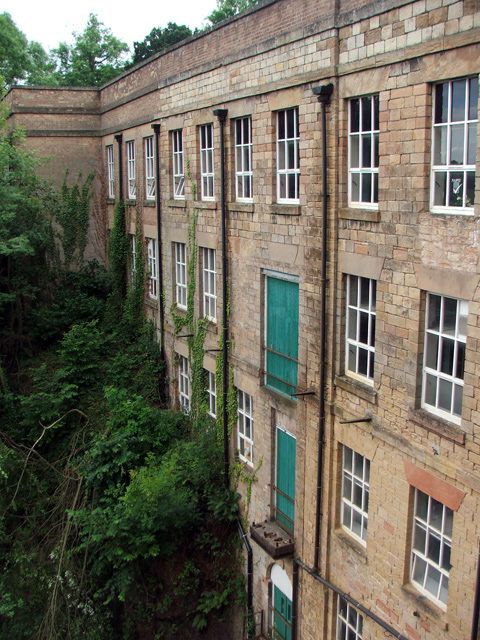 View of mill from the top floor.