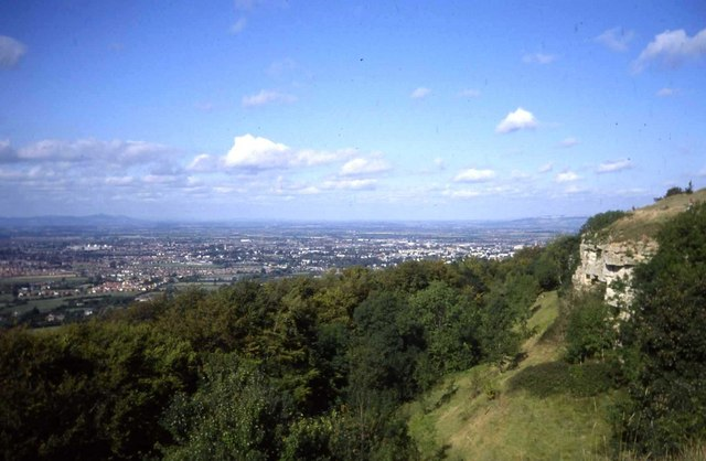 Cliffs on Leckhampton Hill