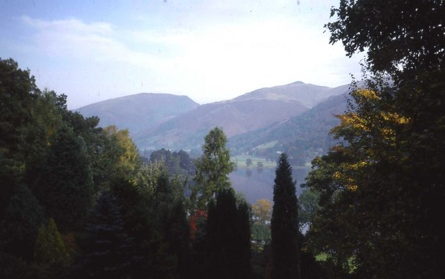 View of Grasmere through trees at Red Bank