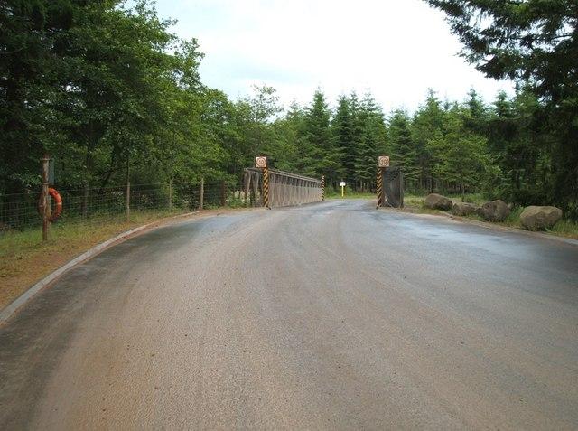 Bridge over Keltie Water from west