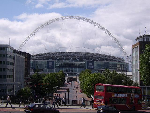 Wembley Way from Wembley Park station