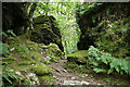 SX4769 : Whitchurch: path through rocks by Martin Bodman