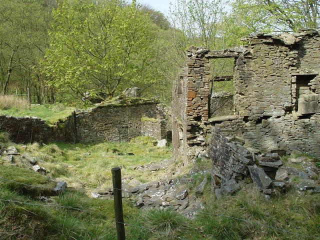 Ruin of Bentley House.