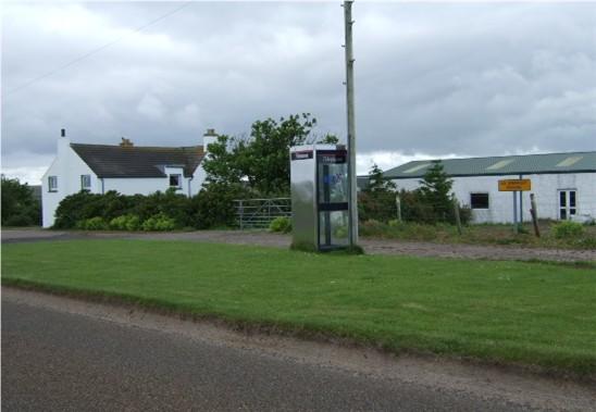 Public telephone by Toftshouse