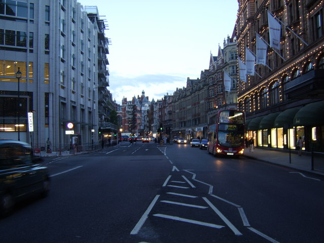 Brompton Road, looking North