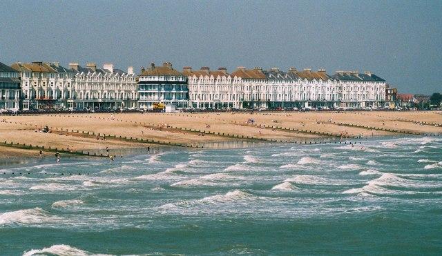 Choppy seas off Eastbourne