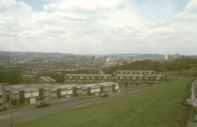 View from Park Grange Road, 1980